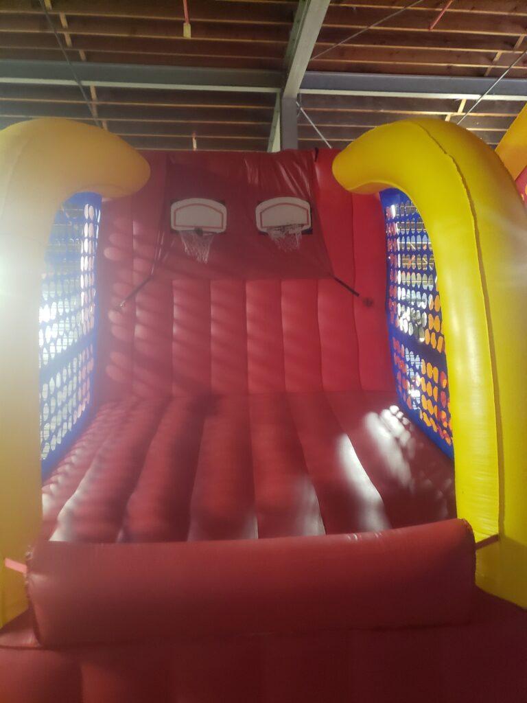 inflatable basketball shot