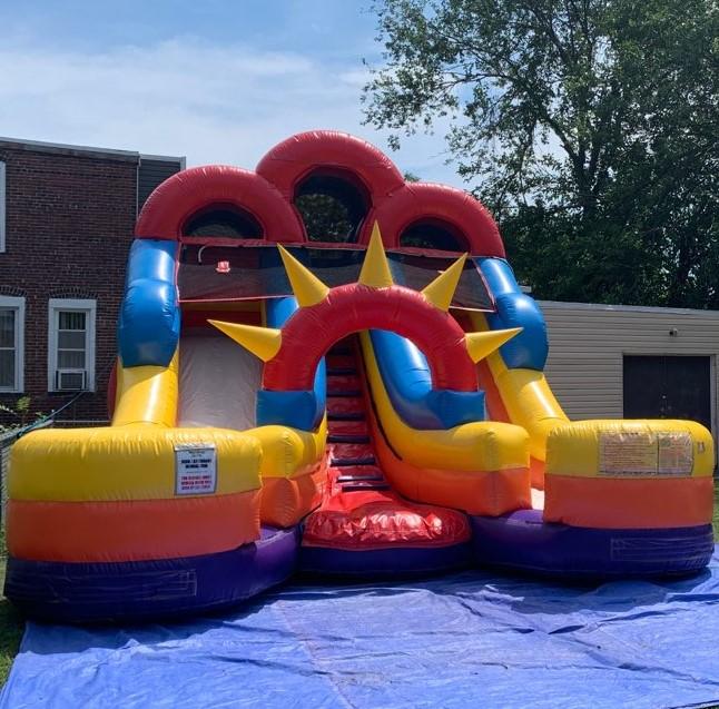 Dual Lane Slide & Splash